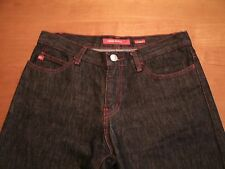 MISS SIXTY JEANS SIZE 27 30W/34L DARK BLUE COLOR 5 POCKET/ZIP FLY #2184