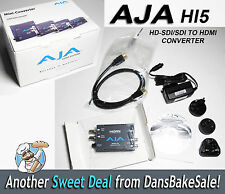 AJA Hi5 HD/SD-SDI to HDMI Mini Converter w/ Power Supply & Cable - New Open Box