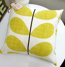 CUSHION COVER USING ORLA KIELY MULTI STEM SCRIBBLE STEM QUILT SAFFRON YELLOW ()(