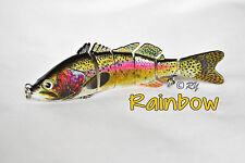 2 NEW 6-Section Multi Jointed Fishing Swimbait Crankbait Bass Lure - Perch