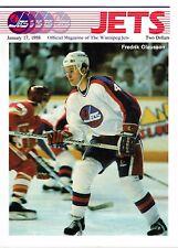 1988 Winnipeg Jets Home vs Vancouver Canucks NHL Hockey Program #117