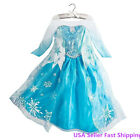 Gorgeous Frozen Queen Elsa Dress Up Costume Party Princess Dress 2T- 8Y K8