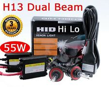 55W HID H13 9008 10000K Blue Bi-Xenon Hi Lo Dual Beam HeadLight Replacement Kit