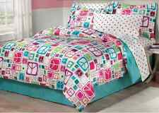 Peace Sign Bedding Sets Full for Teens Girls Comforter Bed in a Bag Teal Sheets