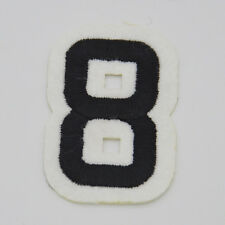 """2pcs Arabic number digital """"8"""" Embroidery Iron/sew on patch applique badge Motif"""