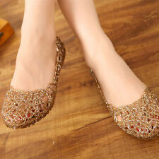 WOMENS FLAT BALLERINA BALLET CASUAL SOFT GLITTER JELLY PUMPS BOAT SHOES LOAFERS