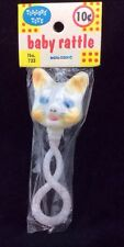 Vintage STAHLWOOD Toys CAT BABY RATTLE No. 733 MIP Old Stock Kitten Toddler Toys
