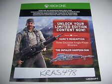 Far Cry 4 Xbox One DLC CODE ONLY - Hurk's Redemption Code - No Game Included