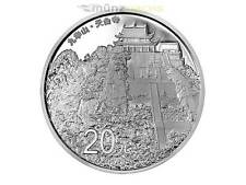 20 yuans Chinese Sacred Buddhist mountain Mount Jiuhua china 2 Oz plata pp 2015