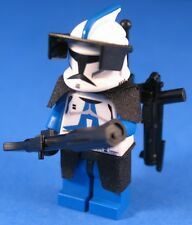 LEGO® Parts STAR WARS™ 501st HEAVY INFANTRY CLONE TROOPER + E-11 & DC-15 Blaster