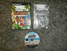 Sims 2: Castaway Sony PlayStation 2 PS2 Complete Black Label Tested NICE