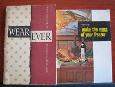 1948 Wear-Ever book + How to Make the Most of Your Freezer - cooking