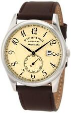 Stuhrling 171B 3315K77 Cuvette Classic Slim Automatic Brown Strap Mens Watch