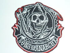 "Patch ecusson petit ""sons of anarchy rond "" harley,moto;country,biker, soa,usa"
