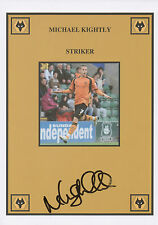 MICHAEL KIGHTLY Signed 12x8 Print WOLVERHAMPTON WANDERERS FC COA