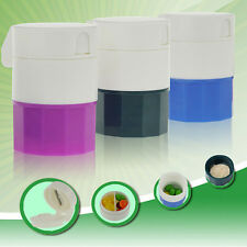 4 Layer Pill Crusher Grinder Splitter Tablet Divider Cutter Storage Box