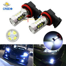 8000K Light-Blue 80W High Power CREE H11 H8 LED Replacement Bulbs For Fog Lights