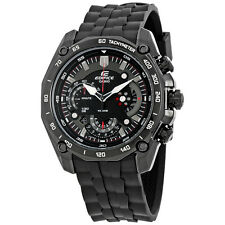 Casio Edifice Black Dial Chronograph Mens Watch EF550PB-1AV
