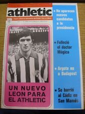 20/10/1977 Athletic Club Bilbao: Athletic Official Organ Of Information - No.125
