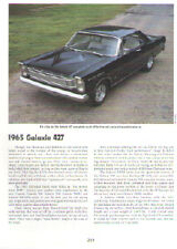 1965 Ford Galaxie 427 Article - Must See !!