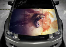 Lion Flame Full Color Graphics Adhesive Vinyl Sticker Fit any Car Hood #067