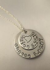 Personalized Mom Necklace/Jewelry - Children's names and birthdays - Silver