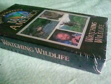 NEW SEALED Marty Stouffer's Wild America - Watching Wildlife (VHS, 1998)