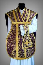 VIOLET PURPLE VESTMENT CHASUBLE KASEL MESSGEWAND STOLA MANIPLE MANIPEL