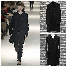 "Rare&Great Dior Homme AW04 "" VOTC "" Hedi Slimane Black Cotton Double Breast Coat"