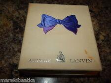 VTG ARPEGE  LANVIN EAU DE LANVIN 2 oz & PERFUME 1/8 oz  SET W BOX