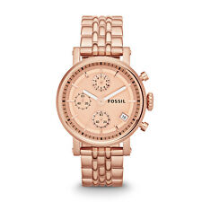 FOSSIL Women's Original Boyfriend  Rose tone stainless steel watch ES3380