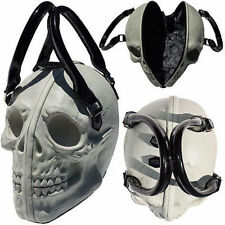 Kreepsville 666 Skull Natural Glow Purse Death Skull Skeleton Coffin Handbag Bag