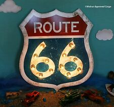 POTTERY BARN ROUTE 66 MARQUEE LIT SIGN -NIB- TAKE THE HIGH ROAD TO COOL DÉCOR!