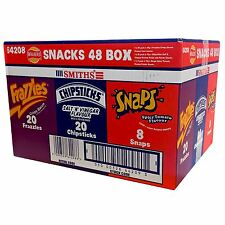 Walkers Smiths 48 Snack Box 20 x Chipsticks 20 x Frazzles 8 x Snaps Crisps Chips