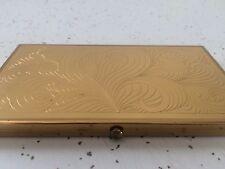 Vintage Large Wadsworth Gold Tone Metal Cigarette Case