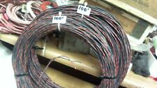 100 ft coil of Western Electric 22g cloth covered,tinned PAIR (200' of wire)