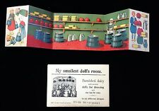Uncut My smallest doll's room  Grocer's Shop  Germany, c1930s.
