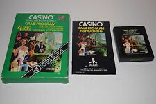 +++ CASINO Special Edition Atari 2600 Video Game COMPLETE in BOX TESTED