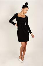 Divine Women's Mini Dress Square Neck Tunic Long Sleeve Sizes 8 -18 2914
