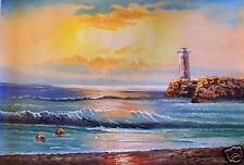 Lighthouse Point Oil Painting Seascape