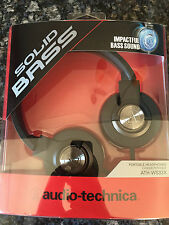 NEW IN BOX Audio Technica Solid Bass ATH-WS33X Closed-back Headphones MSRP $79