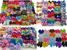 LOTS 50PC Boutique Hair Bows Girls Baby Alligator Grosgrain Ribbon Headband K