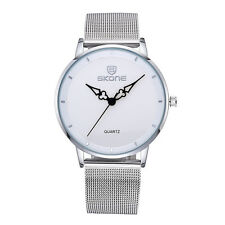 SKONE Ultra-Thin Womens Gold Watches With Mesh Steel Band Analog Quartz Watch