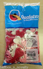 "Qualatex 6"" Heart Sweetheart Assortment Balloons ~ 100 ct."