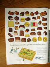 1954 Whitman's Sampler Candy Ad Bring to the Thanksgiving Feast