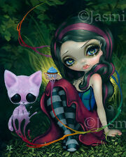 Jasmine Becket-Griffith art BIG print pop Sugar Fueled cat SIGNED Sweet Dreamers