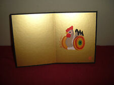 Oriental Rooster Chicken Chick picture card