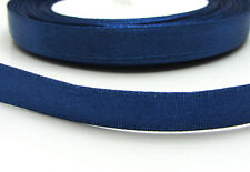 "Free shipping 3/8"" 25Yards Solid color Satin Ribbon  For Wedding Party Navy Blue"
