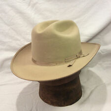Silverbelly Stetson Hat Open Road 3X Beaver with Silverbelly Band Vintage Hat