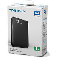 New WD Elements 1TB USB 3.0/2.0 Portable External Hard Drive, Black FREE GIFT